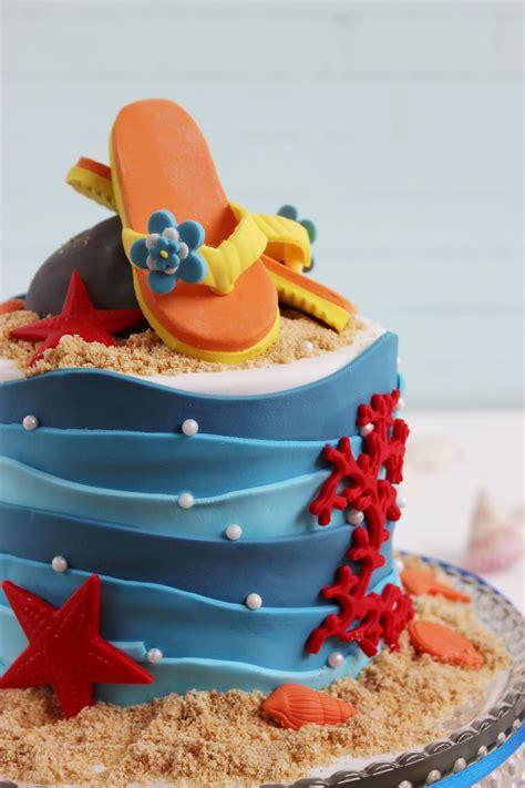 decorar tartas con fondant paso a paso tarta playa lovely cakes