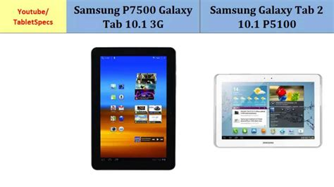 samsung p7500 galaxy tab 10 1 3g versus samsung galaxy tab 2 p5110 all specifications
