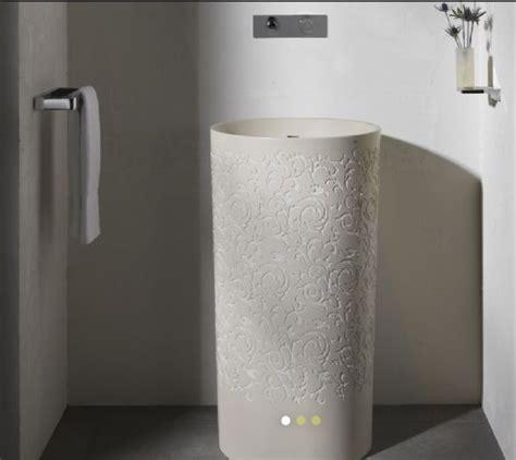 free standing basins bathroom blu bathworks coco round freestanding blustone pedestal