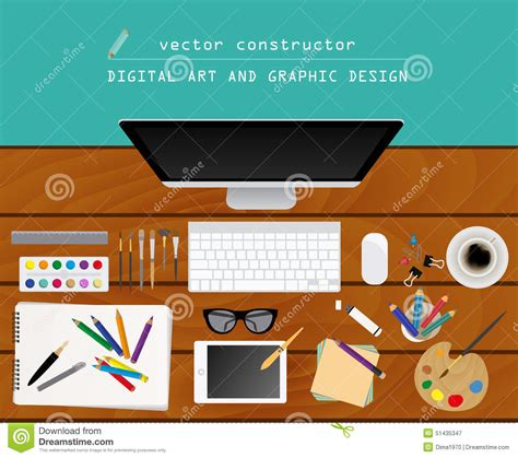 graphic design works at home digital art and graphic design working place in flat