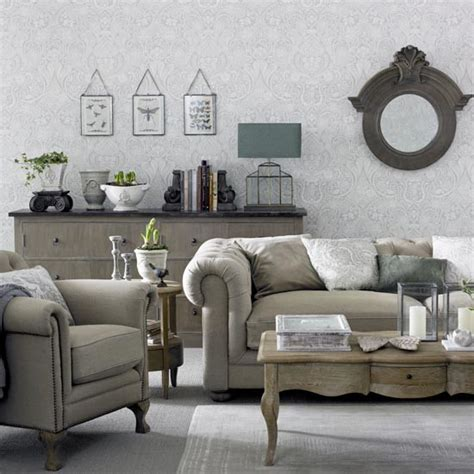 how to mix and match furniture for living room grey living room with chesterfield sofa great schemes