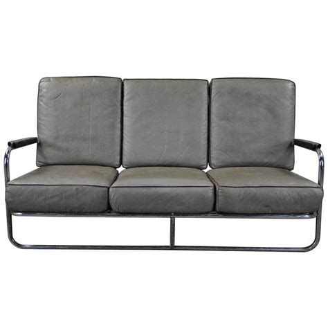 sofa tube 1930 kem webber tube sofa for lloyd manufacturing at 1stdibs