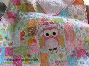 baby owl quilt owl nursery decor crib by