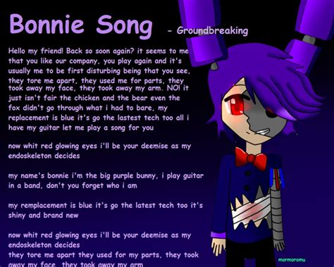song by bonnie song by mormoromu on deviantart