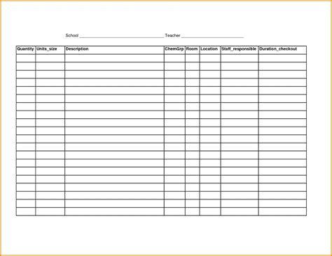 inventory list template invitation template for word gt gt 17