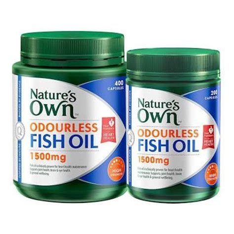 Natures Own Odourless Fish 1000mg 400 Capsules nature s own odourless fish 1500mg high strength toko australia