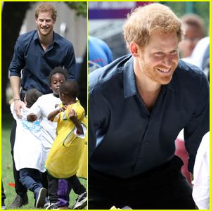 Harry Fit prince harry takes part in fit fed caign with some