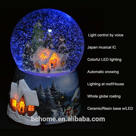 led christmas snow globe with high quality view led snow