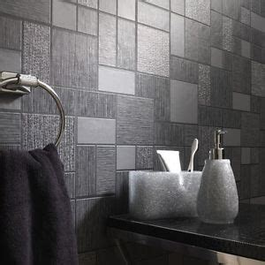 wallpaper for kitchen and bathroom black glitter tile wallpaper kitchen and bathroom tiling