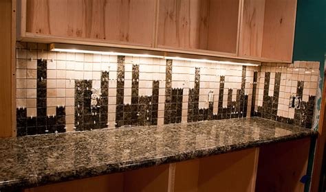 how to tile a kitchen backsplash how to custom design and install a nerdy granite tile backsplash