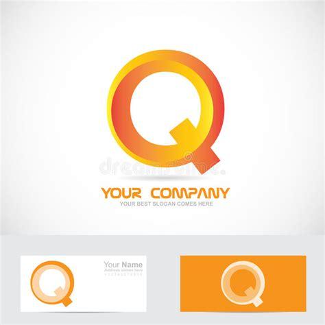Letter Q Orange 3d Logo Icon Stock Vector Illustration Of Orange Sign 55177760 Vector Company Logo Element Template