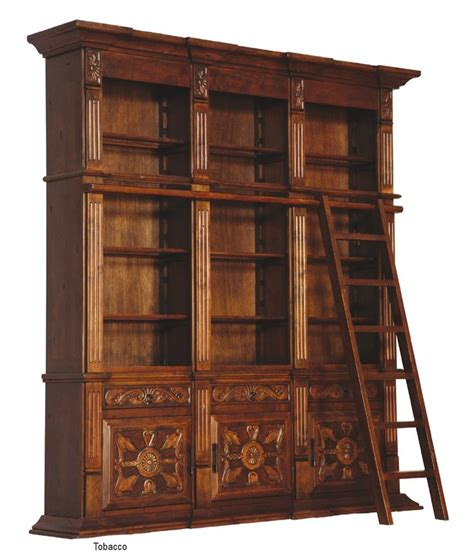 library bookcase with ladder 122