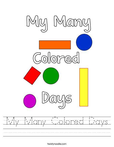 my many colored days my many colored days worksheet twisty noodle