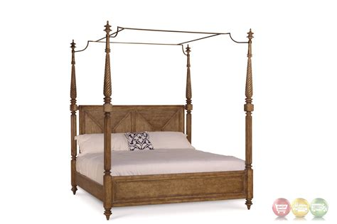 cal king canopy bed pavilion coastal california king canopy bed in pine barley