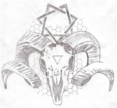 skull and star tattoo designs goat skull design