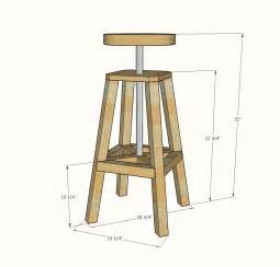 white industrial adjustable height bolt bar stool