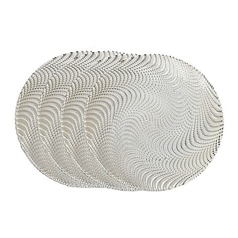 bed bath and beyond plates classic touch trophy serving plates in silver wavy set of