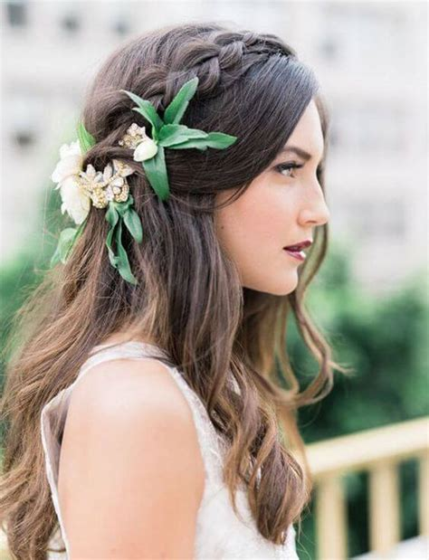 wedding hair with flowers 20 half up half hairstyles for the mrs2be