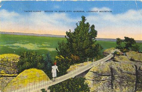 1951 rock garden swing along bridge in rock city gardens lookout mt ebay