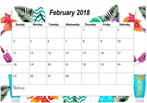 printable planner for 2018 blank template february 2018 calendar 2018