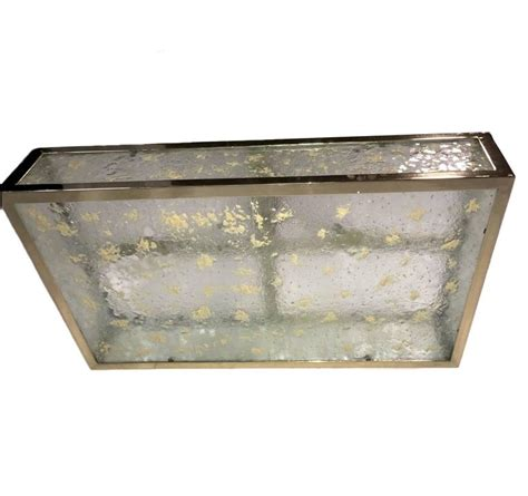 Rectangular Light Fixtures Gold Plated Rectangular Light Fixture For Sale At 1stdibs