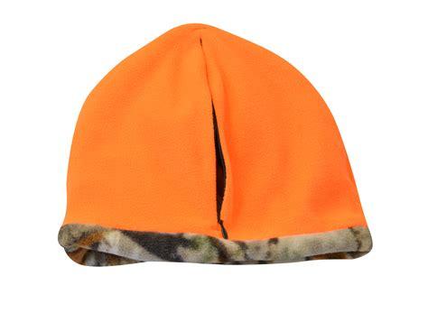 orange camo beanie kc caps 174 mossy oak reversible orange camo fleece