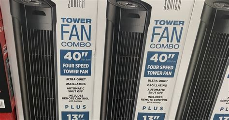 sunter tower fan manual costco electric tower fans