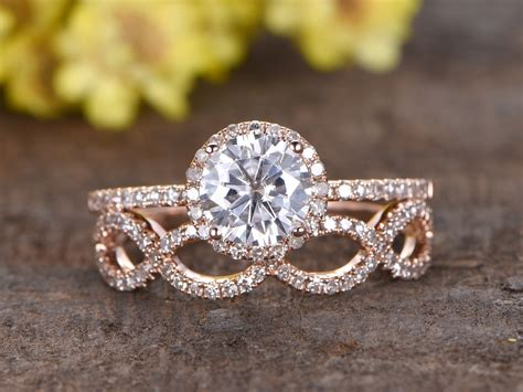 Wedding Sets by 1 25 Carat Moissanite Wedding Sets 14k Gold