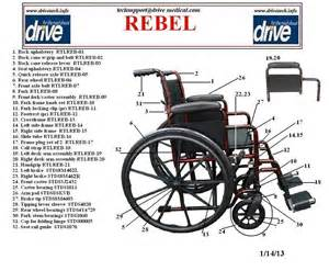 Desk Chair Replacement Parts Drive Medical Rebel Wheelchair Single Axle