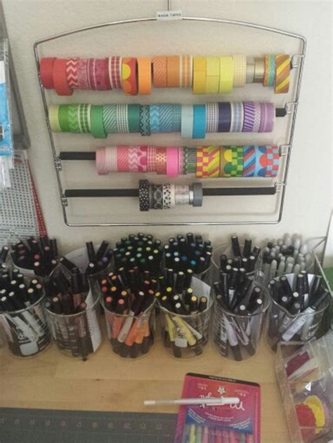 ribbon storage ideas craft projects   fan