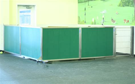 Room Dividers For Pets - our dog day care equipment includes colorful kennel room dividers