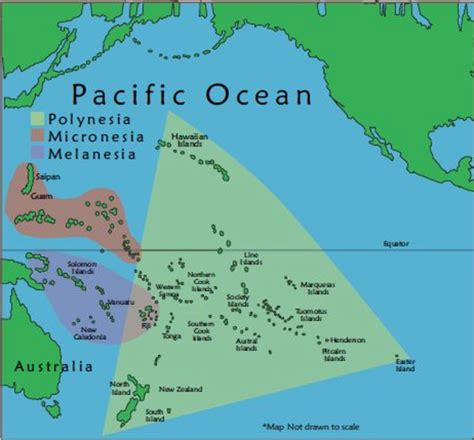 map of polynesia map of oceania polynesia micronesia melanesia