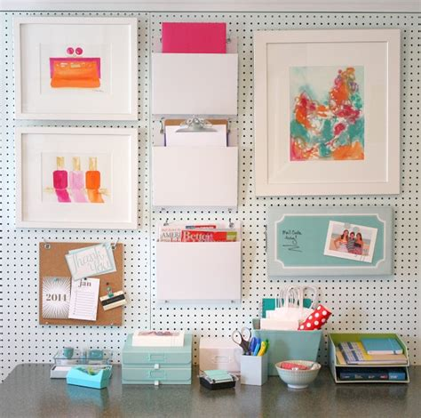 how to build a pegboard office supply organizer creative ways to get organized with pegboard storage