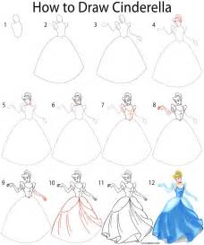 How To Draw Step By Step How To Draw Cinderella Step By Step Disney