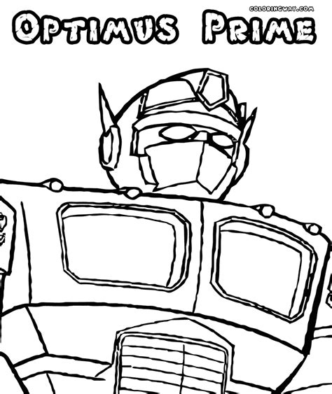 Optimus Prime Coloring Page by Optimus Prime Coloring Pages