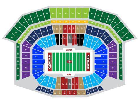 what are the best seats at quam stadium best seats at levi s stadium