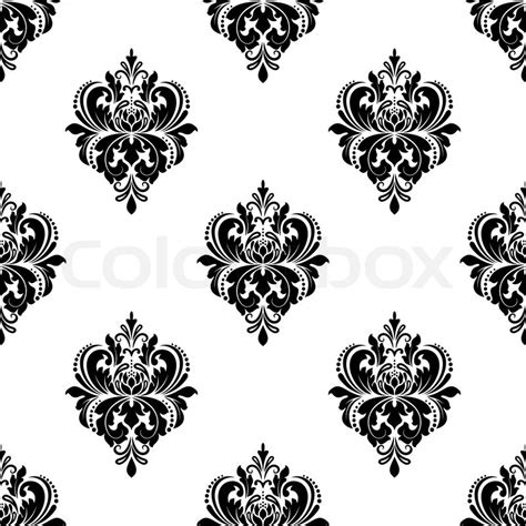 pattern vector motifs seamless black and white floral arabesque pattern with