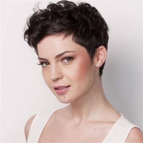 why is my hair curly in front and straight in back 50 best curly pixie cut ideas that flatter your face shape
