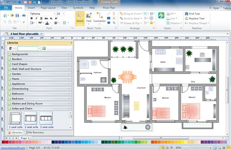 simple home design tool floor plan design software