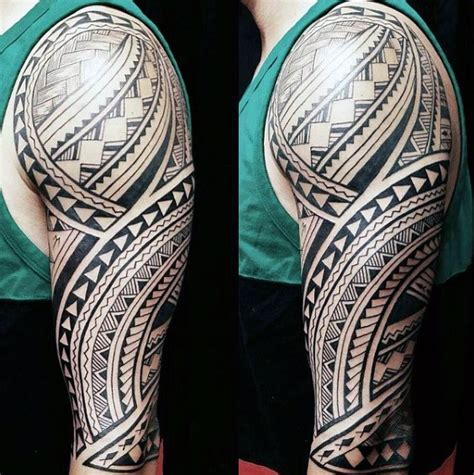 hawaiian quarter sleeve tattoo 60 hawaiian tattoos for men traditional tribal ink ideas