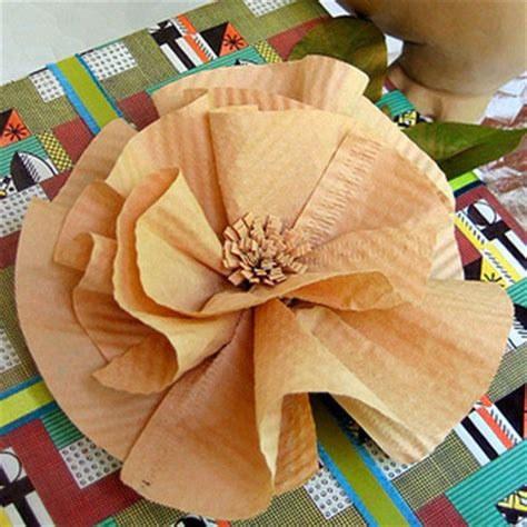 How To Make Paper Flowers From Coffee Filters - how to make paper flowers with coffee filters