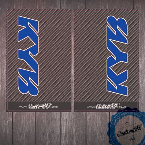 Kyb Sticker kyb blue fork decals carbon custom mx the home