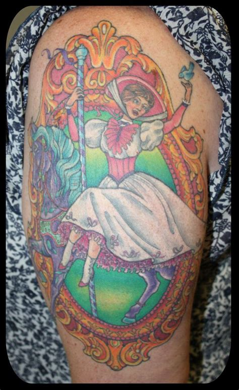 carousel horse tattoo poppins on a carousel by eddy lou not