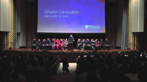 Wharton Mba Convocation by Dean Geoffrey Garrett At The 2014 Wharton Mba Convocation