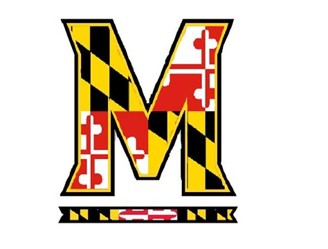 maryland flag tattoo designs maryland m logo with the maryland state flag inside