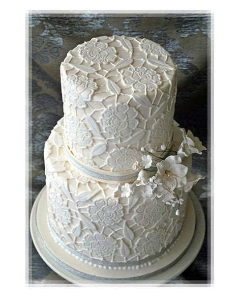 Wedding Cake Patterns by Blanc Motif De Dentelle G 226 Teau De Mariage Photo 2068273