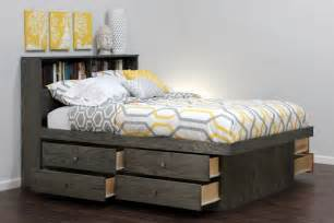 Platform Bed With Built In Drawers Prepac 6 Drawer Platform Storage Bed