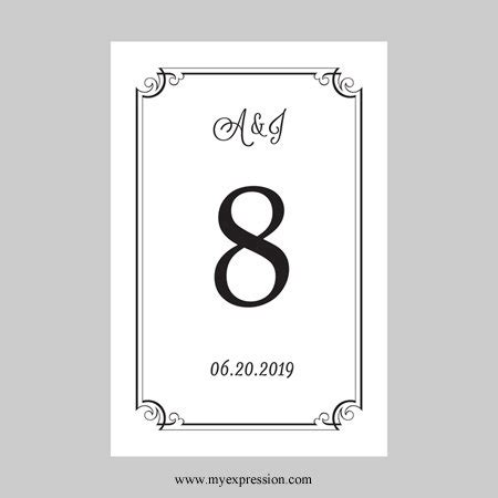 deco table name card template wedding table number templates free template back post