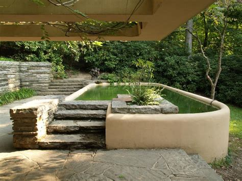 Hollyhock House Plan fallingwater pictures guest house plunge pool frank