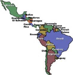 labeled map of central and south america global resources mexico central america south america